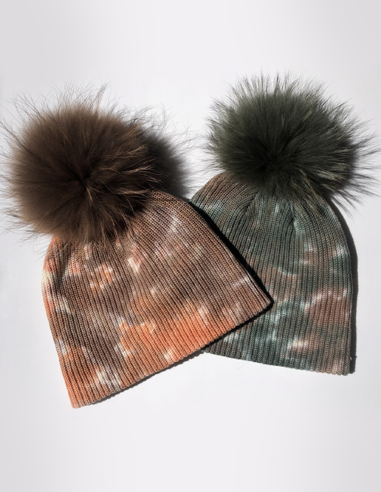 Linda Richards Fur Pom Beanie