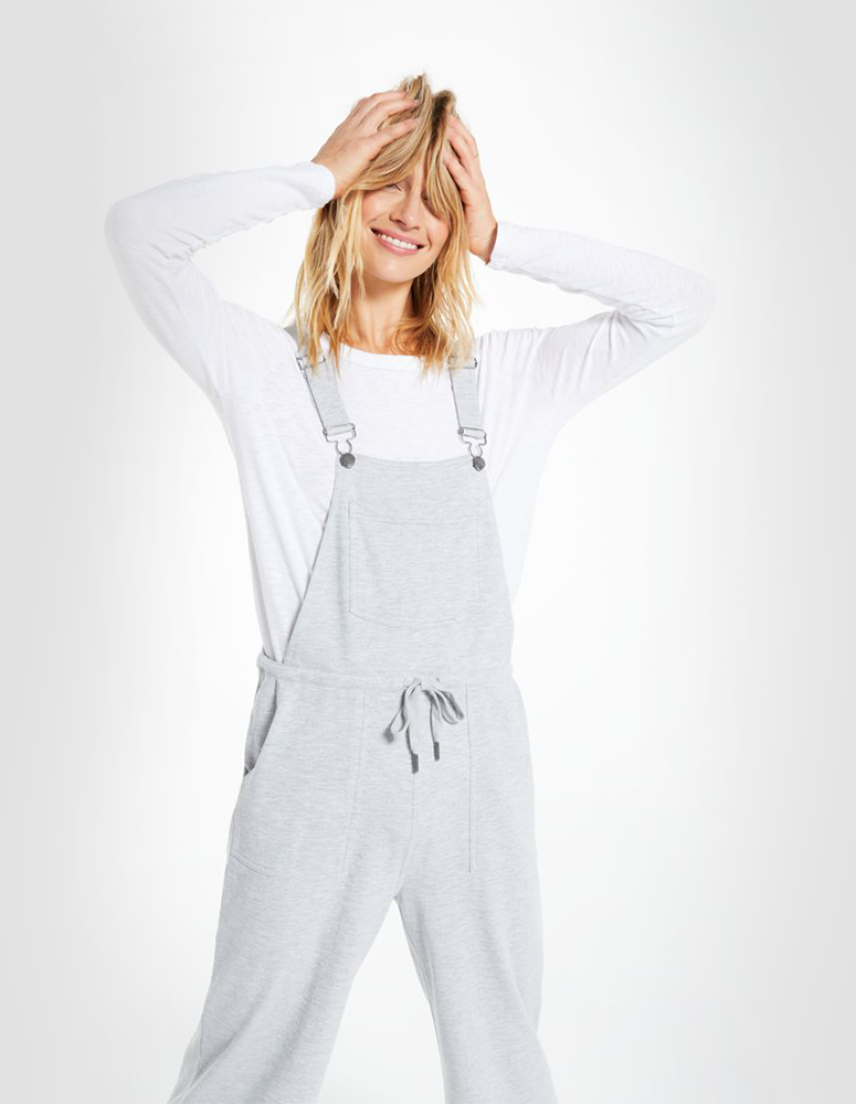 Z-supply Gray flowy overalls