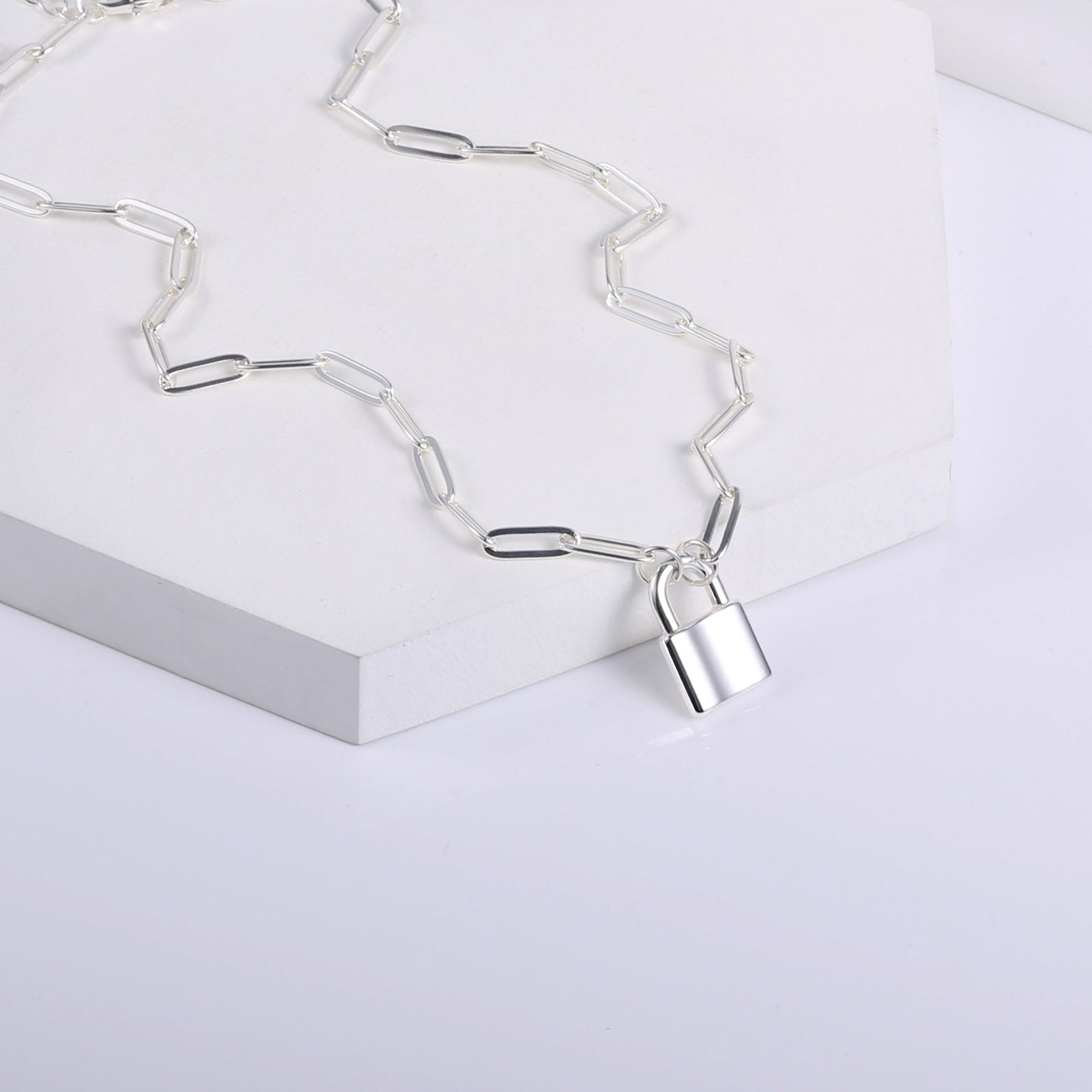 Silver Plated Long Chain Large Ginkgo Pendant Necklace