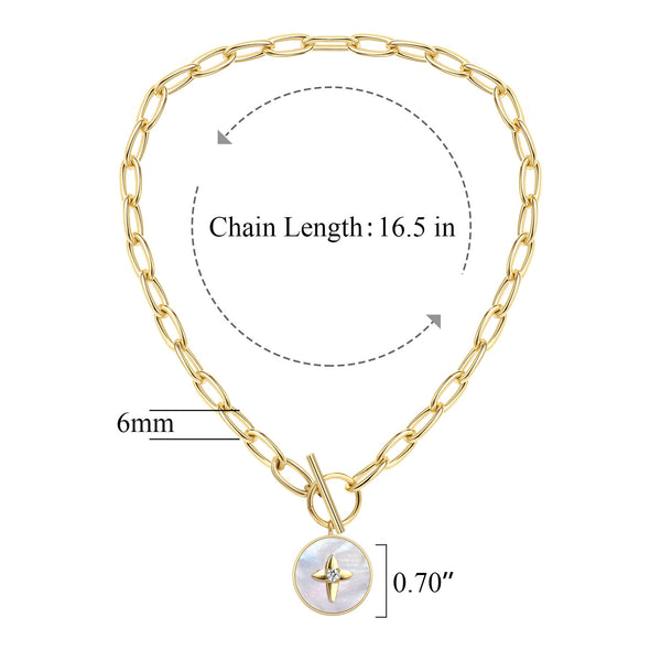 Chunky Chain Choker Necklace, 14K Gold