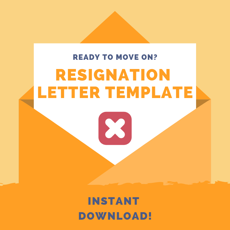 Template: Letter of Resignation