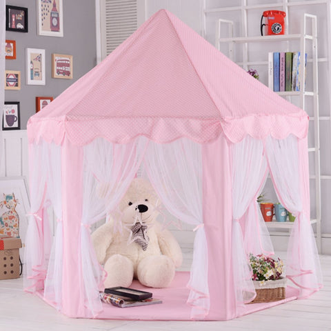 This is the cutest princess tent .keep the kids entertained reading relaxing and enjoying the peace in their tents. What kid doesnu0027t like forts and tents ... & ONMIER Pink Princess Castle Kids Play Tent Children Playhouse