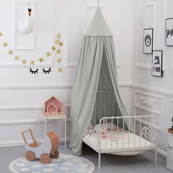 Bed Canopy for children, Cotton Mosqutio Net Hanging Curtain, Baby Indoor Outdoor Play Reading Tent, Bed & Bedroom Decoration, Insect Net Protection (High 240cm,Upper Circumference: 152cm, Lower Circumference: 265cm)