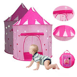 Princess Play House for kid, Pop-up Play Tent Indoor & Outdoor Use with Stars Glow at Night, Exercise Space Imagination & Color Recognition Ability,Perfect Present for Children (Pink)