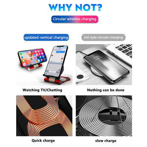 Wireless Charger pad Iron Man Quick Wireless Charging Stand For IPhone And Samsung
