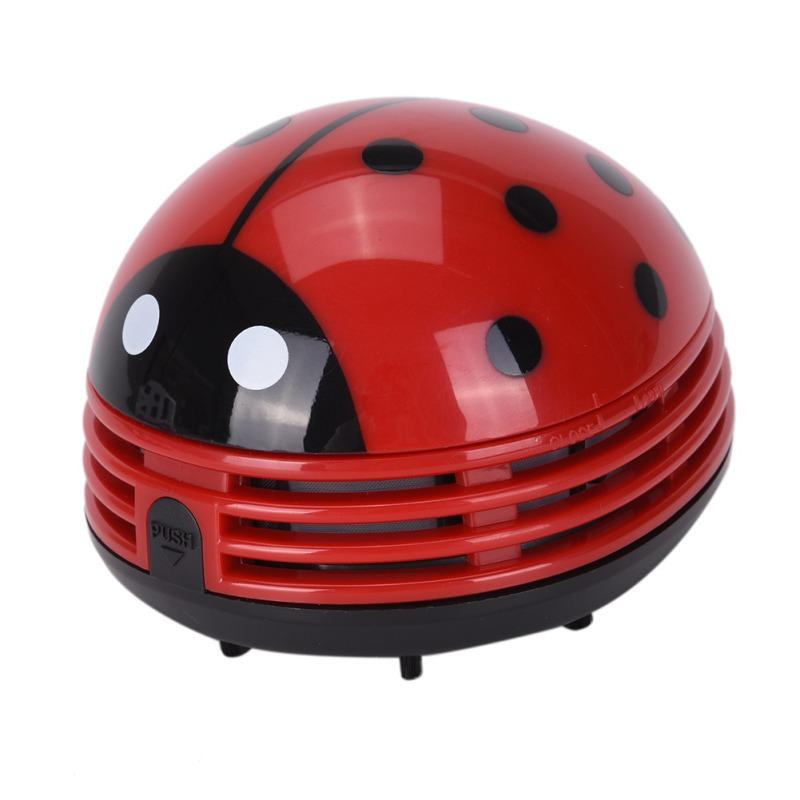 Cute Portable Beetle Ladybug cartoon Mini Desktop Vacuum Desk Dust Cleaner