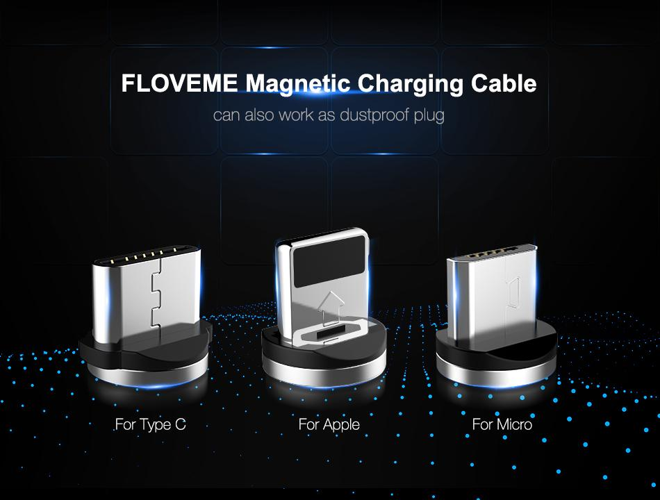 Magnetic Cable For Lightning Micro USB Type C Phone Cable For iPhone Micro TYPE-C  Fast Charge Magnet Charger