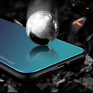 Gradient Aurora Tempered Glass Cases For Huawei P20 Pro Case P20 Lite Case Luxury Colorful Smooth Protector Cover P 20 Pro Shell