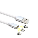 Magnetic Adsorption Emergency Power Bank and Charging Cable Lightning Type-C Micro USB for iPhone Huawei Xiaomi Samsung