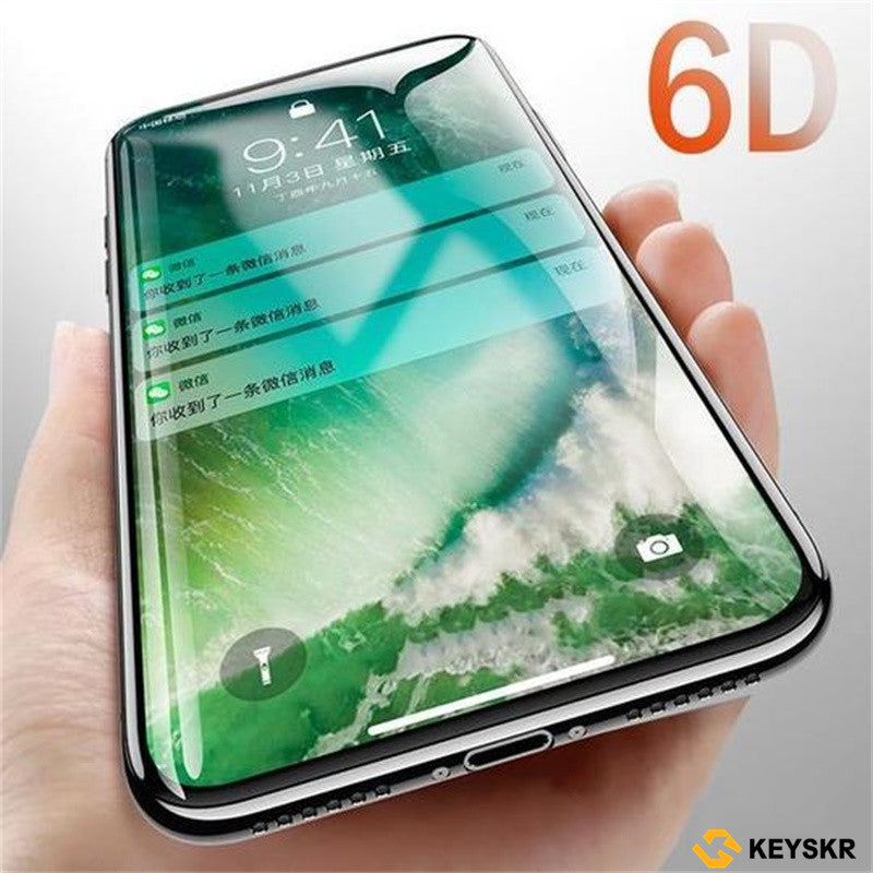 Flash Paste 6D Glass Tempered Glass Screen Protector Set for iphone /8 Plus X/XS iPhoneXR XS MAX 6/6s Plus