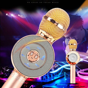 NEW microphone Wireless bluetooth microphone karaoke Speaker voice changer microphone for PC phone