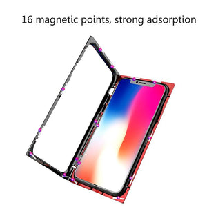 Case for iPhone 7 Plus 8 Plus X Case Square Magnetic Adsorption Case