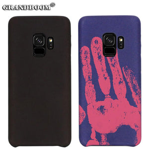 Heats Sensitive Technology Color Case For Samsung Galaxy Note 8 S9 S8 Plus S7 Edge J3 J5 2017 Thermal Sensor PU Leather Cover