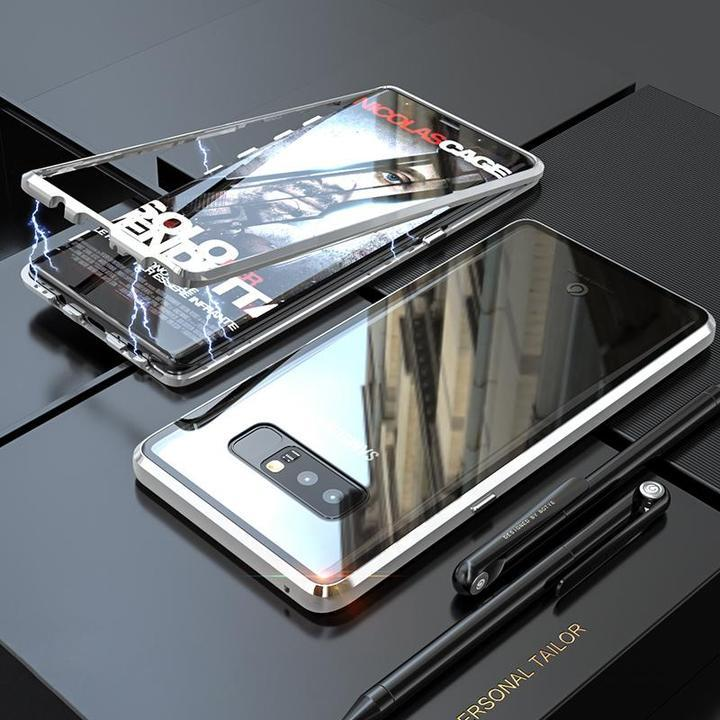 Magnetic Case For Samsung Galaxy Note 8 With FREE Glass Screen Protector Magnet Transparent Clear Glass Back Cover For Galaxy Note8 Case