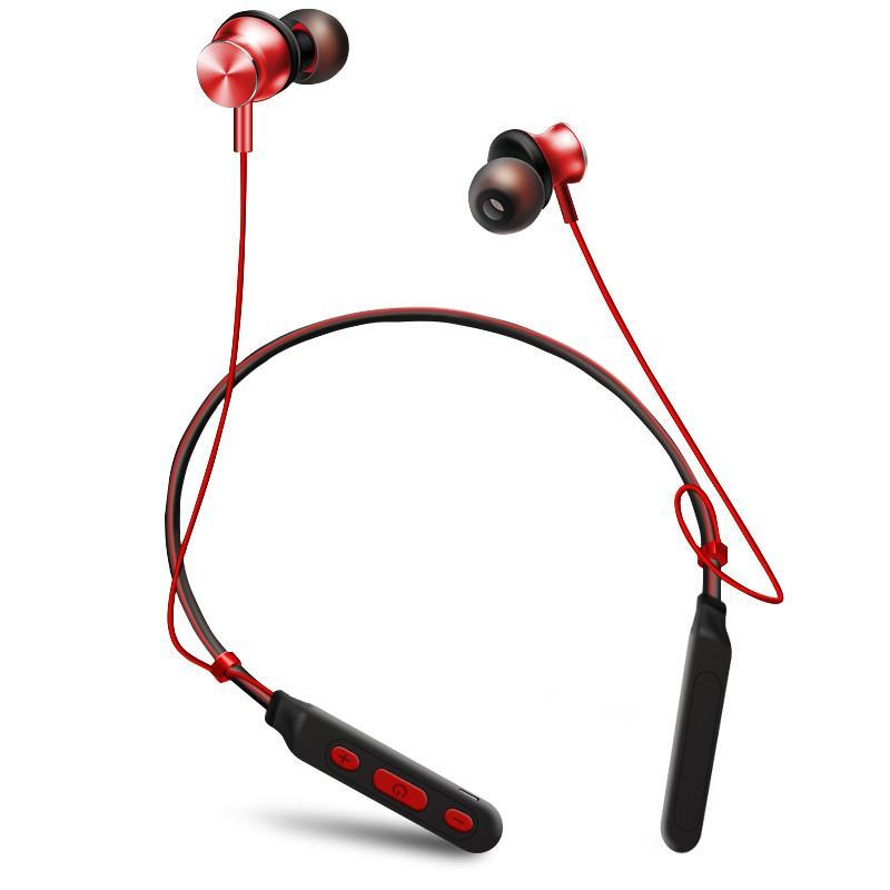 Neckband Wireless Bluetooth Headphones Magnetic Adsorption HiFi Stereo In-Ear Headsets with Mic