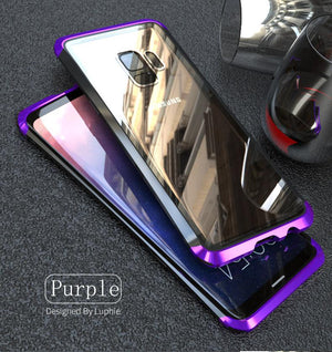 Luphie Samsung S9 S9 Plus Metal Bumper Case With Tempered Glass Back