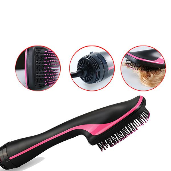 Multi-function electric hot air comb wet and dry hair curler hair curler hair straightener comb