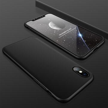 3 in 1  iPhone X Double Dip 360° Full Protection PC Case With Tempered Glass Film