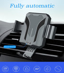 Car Air Vent Wireless Charging Mount Stand with Infrared Sensing Automatic Arms Compatible iPhone XS/XS Max/XR/X/8/8 Plus,  Android 7.5W/Apple 10W Fast Wireless Charger Compatible Samsung Galaxy S9/S9+/S8/S8+/Note 9/8 Xiaomi MIX 2S