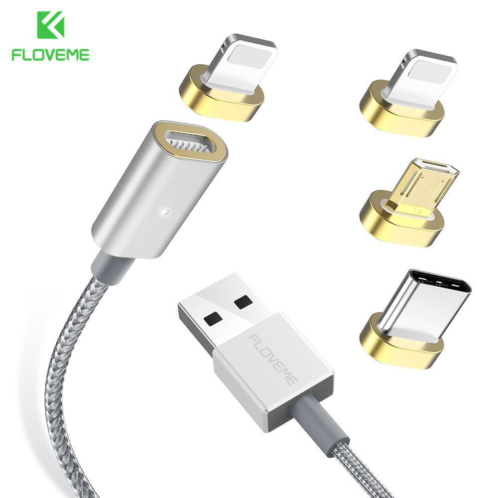 FLOVEME Magnetic USB Charging Cable 1m Micro USB Type-C Lightning for iPhone Huawei Xiaomi Samsung-Chargers & Cables-hykis.com
