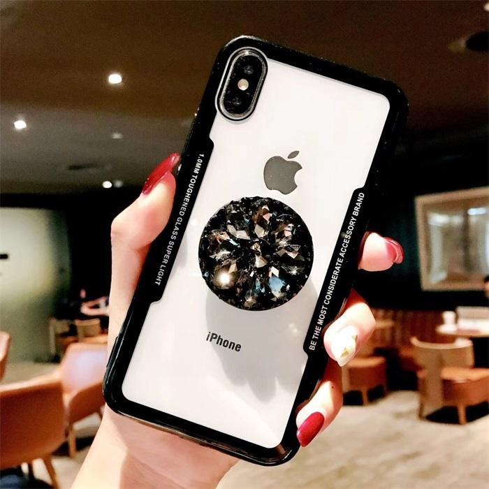 2018 Hot Selling Luxury Fashion Airbag Diamond Kickstand Phone Cases for iPhone