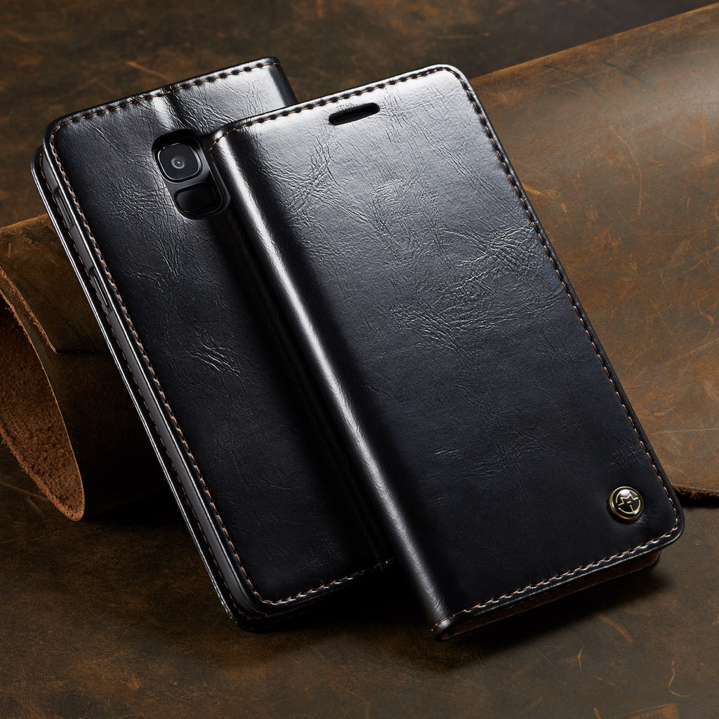CaseMe Leather flip phone cover all-inclusive case for Samsung Note9/8 S9/8 plus S9/8/7 S7 edge