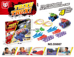 TV toy TRIX TRUX monster truck tumbling car line car rotating four-wheel drive track toy car