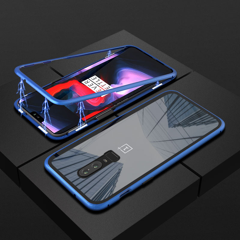 Magnetic Adsorption Flip Phone Case for Oneplus 6 6T
