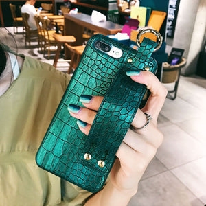 Luxury Crocodile Leather Wristband Phone Case For Huawei P20 Lite Mate9 Pro