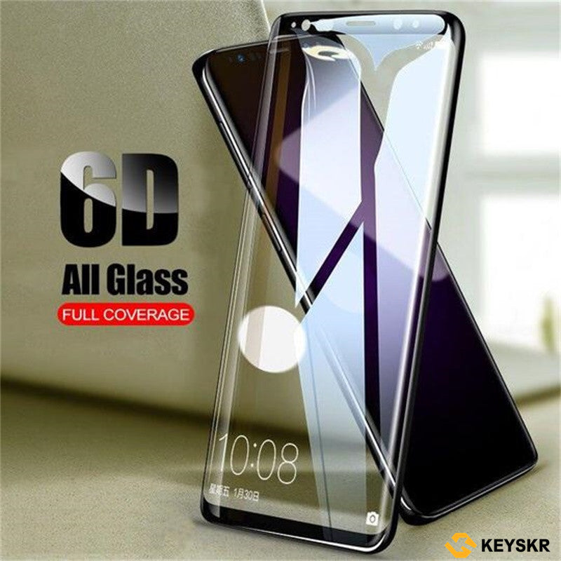 6D Full Curved  Tempered Glass For Samsung Galaxy S8 S9 Plus  Screen Protector Film S7 Edge Note 8 A6 A8 Plus Cover case