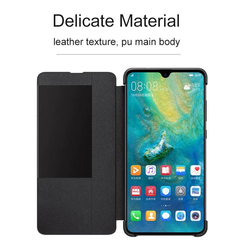 PU Leather Flip Smart Window View Phone Cases For Huawei Mate 20 Mate 10Pro P20 P20Pro P10