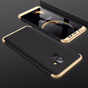3 in 1 Samsung Galaxy A8/A8Plus Double Dip 360° Full Body Protective Case