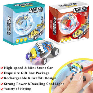Electric Micro Mini 360 Degree Rotating Laser  High Speed Toys Car