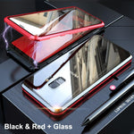 Magnetic Adsorption Transparent Tempered Glass Two side Glass Cover Phone Case For Samsung Note9/S9/S9+/S8/S8+