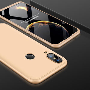 3 in 1 HUAWEI P20 Lite Double Dip 360° Degree Full Protection Hard PC Matte Coque Cover With Tempered Glass Film