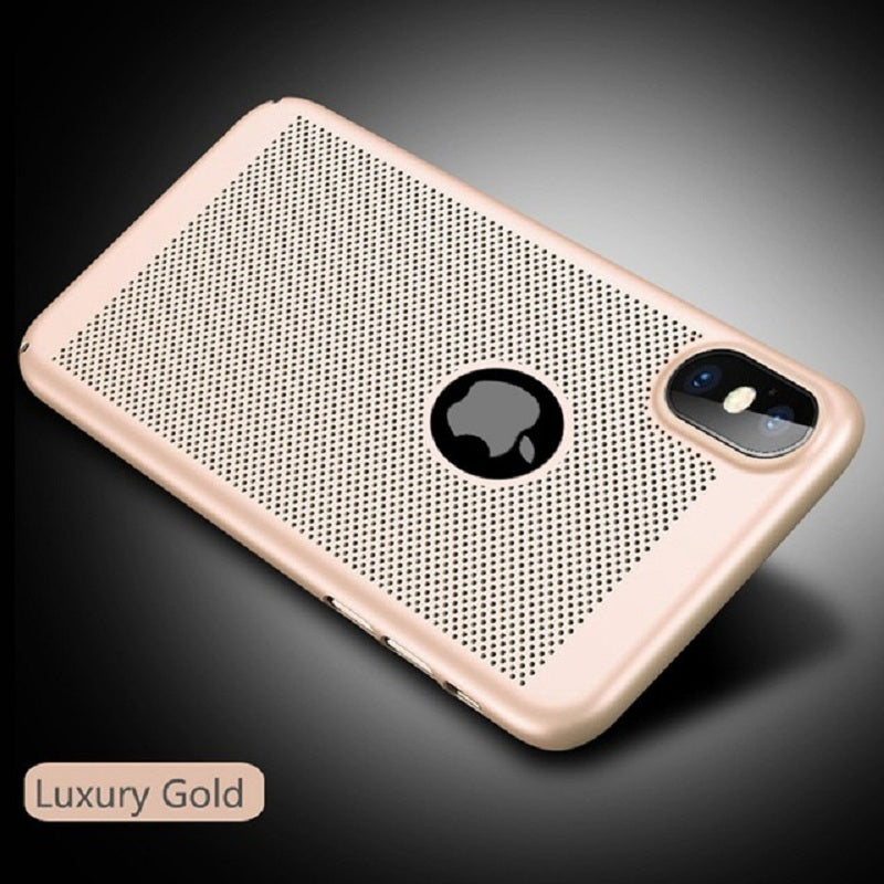 Hollow Wind Heat Dissipation Matte Hard Cover for iphone XS MAX XR X 7/8 PLUS