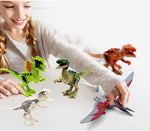 Dinos Toy Buildable Dinosaur Building Blocks Figures with Movable JawsIncluding T RexTriceratops Velociraptor