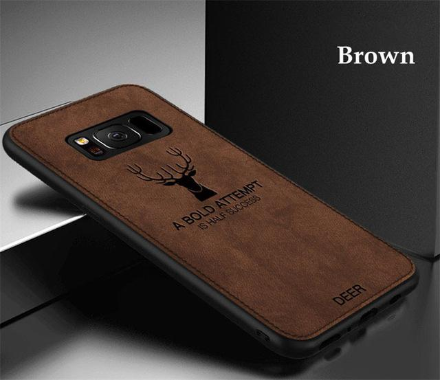 3D Deer Patterned Cloth Silicone Case For SAMSUNG  Cloth Texture Deer Soft TPU Case For SAMSUNG