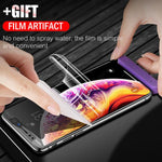 6D Full Curved Edge Screen Hydrogel Film Protector Soft Hydrogel Screen Protector For iPhone XS Max X XR XS Samsung S8 S9 S7 edge Huawei  P20 Lite P20 pro