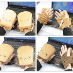 USB Powered Heated Gloves Cute Electric Winter Hands Warmer for Skiing Cycling Motorcycle Cartoon Expression Funny Gloves