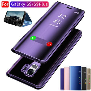 new product 739d8 84ba0 S9 S9 Plus Luxury Flip Protection Full Screen Window Cases For samsung