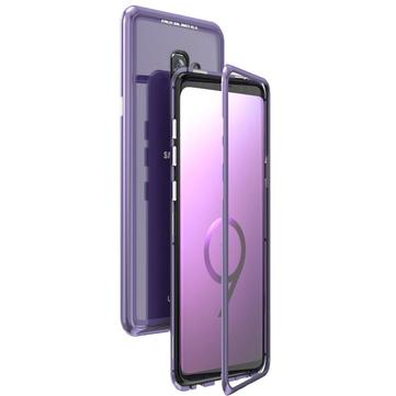 Luphie Magnetic Adsorption Aluminum Tempered Glass Protective Case For Samsung Galaxy S9S9 Plus