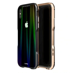 Luxury Magnetic Case For Apple iPhone XS Max Case Coque Metal Bumper Cover For iPhone XR Case Transparent Aurora Tempered Glass