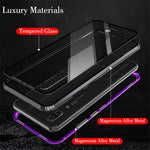 Magnetic Adsorption Metal Phone Case For huawei p20 pro Luxury Ultra Magnet Tempered Glass 360 Full Cover For huawei p20pro P 20