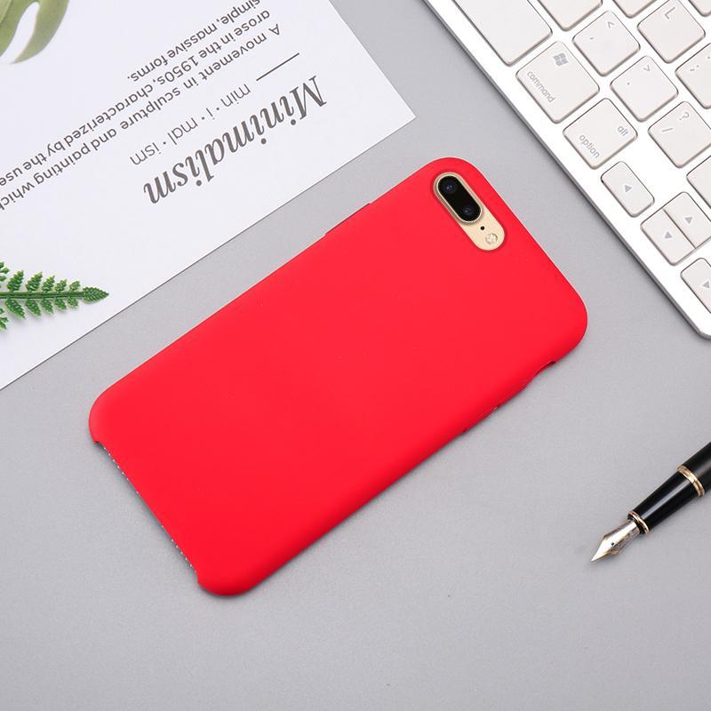 iPhone Case Original 100% Offical Silicone Soft Protection Back Cover iPhone 5/5s/se/6/6s/7/8/7P/8P