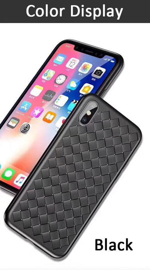 Plus 7P 6S 6 Plus 5S Luxury Weaving Grid TPU Cover For iPhone 7 Silicone Case Breathable