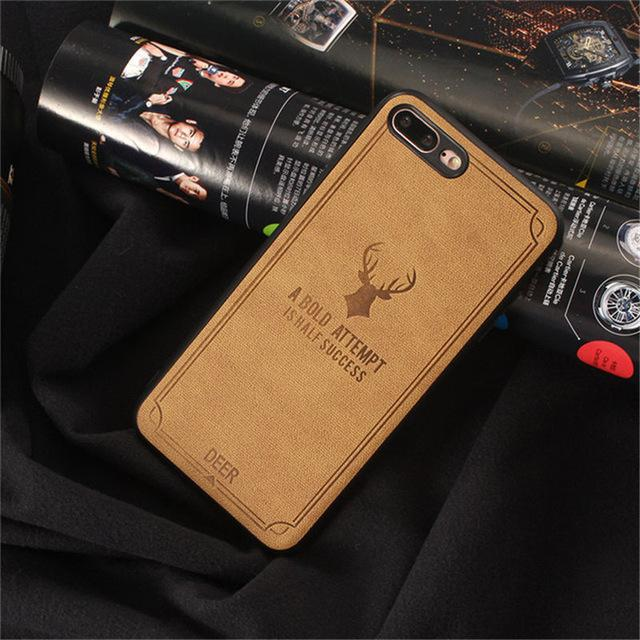 Business Batman Cloth Texture Soft TPU case For iphone 7 plus X Case Ultra-thin Deer Phone Cases For iphone 7 8 6 6S Plus