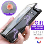Magnetic Adsorption Flip Phone Case With Free Screen Protector for Samsung