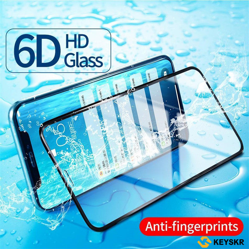 0.3mm 9H HD Screen Protector For iPhone X Glass Protector 6D Full Cover Screen Glass