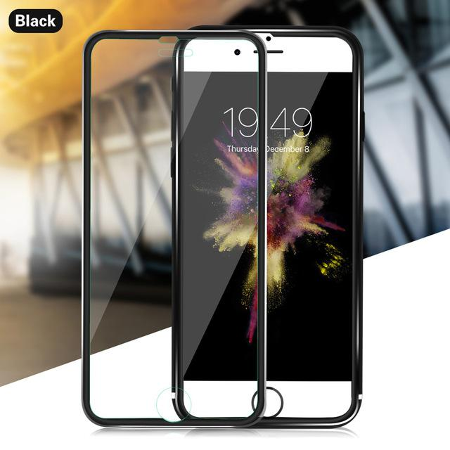 Tempered Glass For iphone 6 7 8 Plus 5 5S SE Full Screen Protector 3D Aluminum Alloy For iPhone X 6 7 8 Protective glass